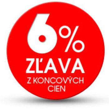 6% zľava z koncových cien