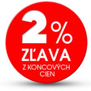 2% zľava z koncových cien