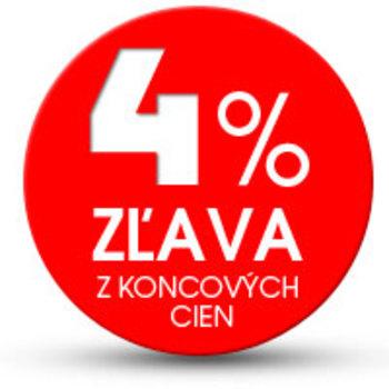 4% zľava z koncových cien