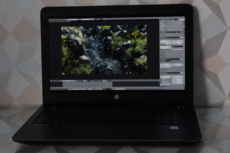 HP ZBook 15 G4 - pohľad spredu