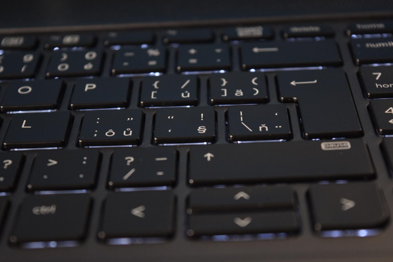 HP ZBook 15 G4 - pohľad na podsvietenie klávesnice